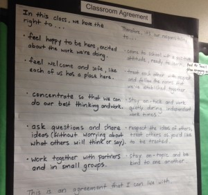 Classroom Agreement